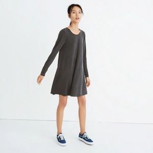 Madewell sandwashed swingy tee dress